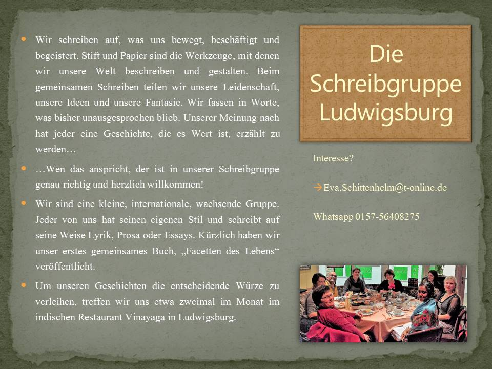 schreibgruppe ludwigsburg präsentation